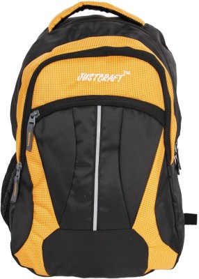 Justcraft Butterfly Black and Orange Collage 22 L Backpack