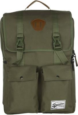 Impulse Double Pocket Green 20 L Laptop Backpack