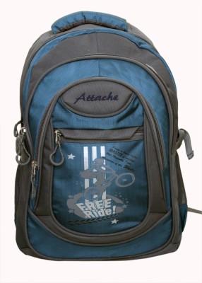 Attache Stylish School Bag (Blue & Grey) 30 L Backpack