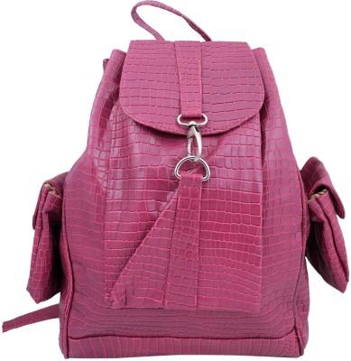 Super Drool Pink Crocodile 12 L Backpack