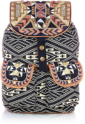 Shaun Design Aztec Embroidered 8 L Medium Backpack