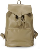 The House of Tara PU Leather Overnighter Hiking Weekender 21 L Backpack(Nomad Beige)