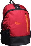 F Gear Rocco 21 L Backpack (Red, Black)