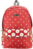 Bags R Us Polka Dots 18 L Backpack (Red)