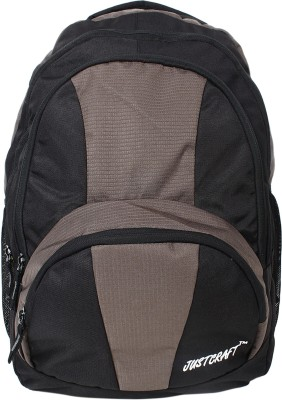 Justcraft Trendy Black and Beige 30 L Backpack