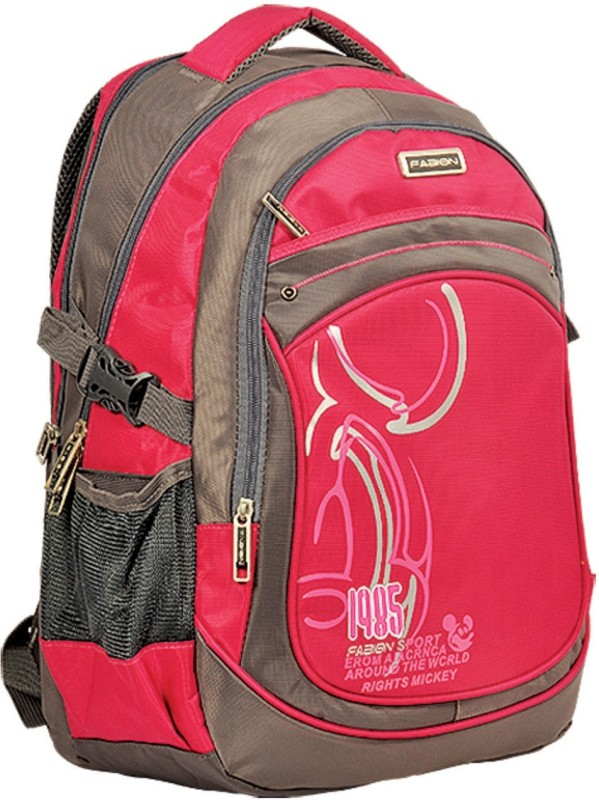 Fabion Grey n Pink 36 L Large Backpack(Pink)