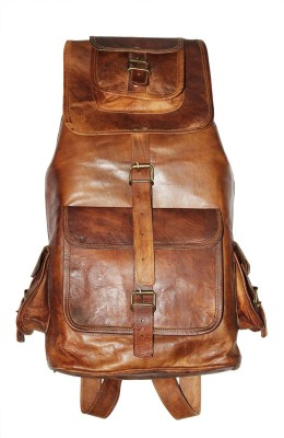 Shiny Collection Genuine Goat Leather 0.262193 L Backpack