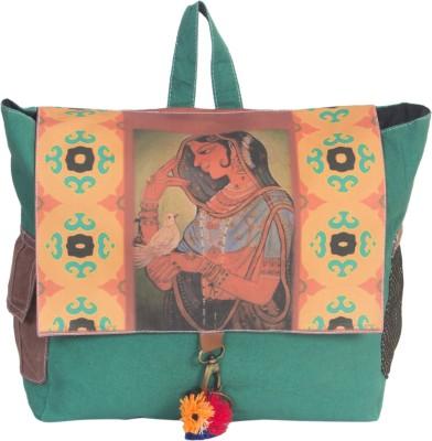 The House of Tara Canvas Bani Thani Bag 16 L Medium Backpack