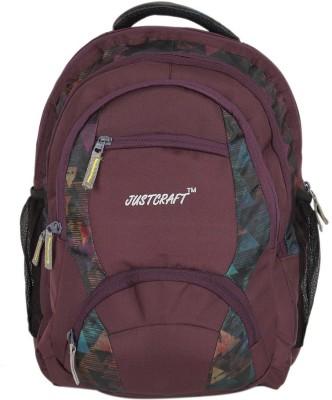 Justcraft Rajadhani Purple and Printed 30 L Backpack