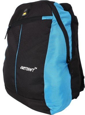 Justcraft Joyo Black and Sky Blue 30 L Laptop Backpack