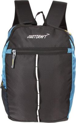 Justcraft Joyo 25 L Laptop Backpack(Black and Sky Blue)