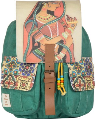 The House of Tara Printed Canvas 043 20 L Medium Backpack