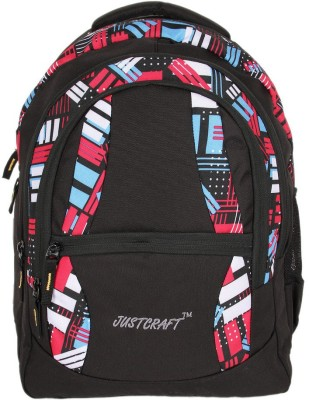 Justcraft Airport Black and Printed NW Red 30 L Backpack