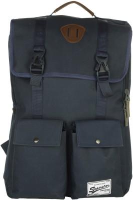 Impulse Double Pocket Navy Blue 20 L Laptop Backpack