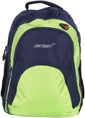 Justcraft Tiger Blue and Perrot Green 30 L Backpack