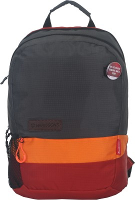 Harissons Trinity 21 L Backpack(Grey, Orange, Maroon)