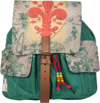 The House of Tara Printed Canvas 045 20 L Medium Backpack