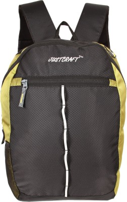 Justcraft Joyo 25 L Laptop Backpack(Black and Perrot green)