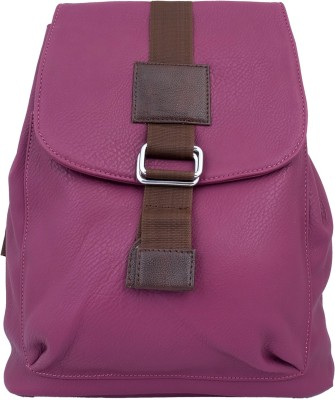 Super Drool Purple Leather Finish 5 L Backpack