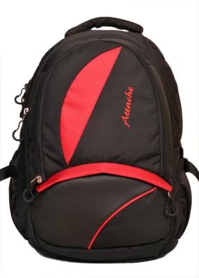 Attache Polyester School Bag/Laptop Bag (Red & Black) 20 L Backpack