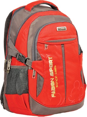 Fabion Grey n Red 36 L Large Backpack
