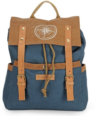 The House of Tara Dual Tone Canvas 15 L Backpack(Combat Blue)