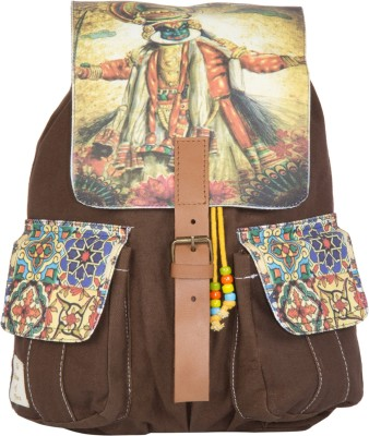 The House of Tara Printed Canvas 035 20 L Medium Backpack