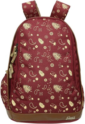 Gear Triumph Backpack(Summer Print)Maroon Beige 27 L Backpack