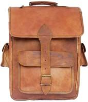 Crafat Handmade Men Women 15 L Laptop Backpack(BROWN)