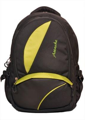 Attache Polyester School Bag/Laptop Bag (Green & Black) 20 L Backpack