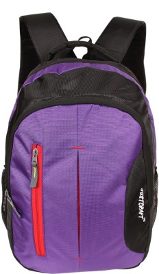Justcraft Croma 25 L Backpack(Black,Purple)