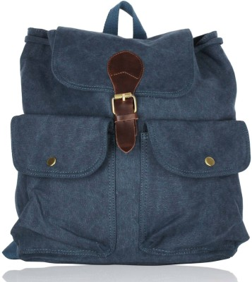 Zobello Canvas/Faux Leather 16 L Medium Backpack