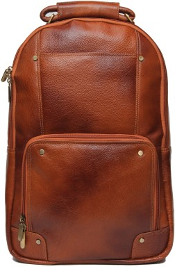 C Comfort Genuine Leather 15 L Medium Laptop Backpack