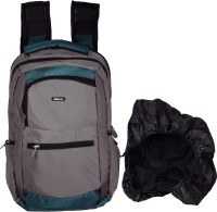 Ideal Pivot Multicolor With Rain Cover Casual 30 L Laptop Backpack(Cyan)