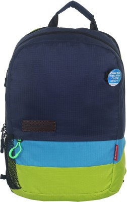 Harissons Trinity 21 L Backpack(Navy Blue, C Blue, Green)