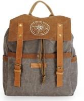 The House of Tara Dual Tone Canvas 15 L Backpack(Stone Grey)