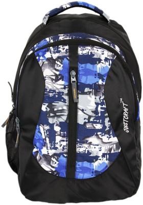 Justcraft Flora Black and wld Blue 25 L Backpack(Blue)