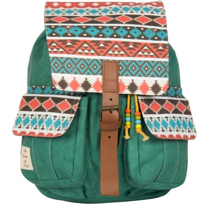 The House of Tara Printed Canvas 042 20 L Medium Backpack