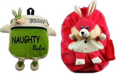 Pandora Kids School Bag - 2 Pack of Green Naughty and Rabit 5 L Backpack