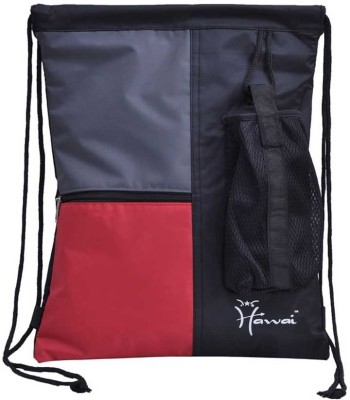 Hawai Light-Weight Tri-Colored Swim Bag Free Size Backpack