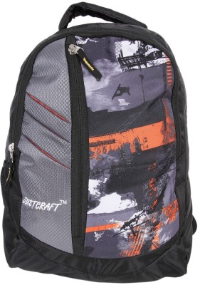 Justcraft Glaxy Black and Printed 22 L Backpack(Orange)