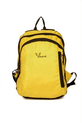 Fausta Yellow with black Bamboo 15 L Backpack