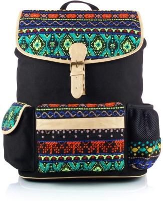 Shaun Design Black Jacquard with Laptop Protection 11 L Medium Backpack