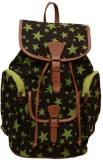 Moac BP024 Medium Backpack (Black, Green...