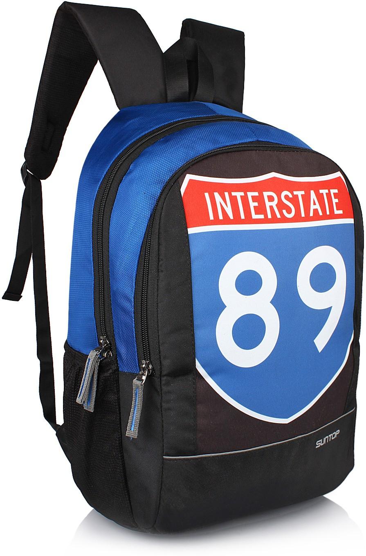 Suntop Sportstar 20 L Backpack(Black, Blue)