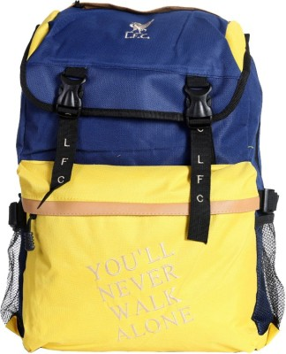 Liverpool FC Super Yellow & Navy Blue Polyester 19 L Backpack
