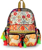The House of Tara Fabric Printed and Cotton Durrie 27 L Backpack(Multicolor)