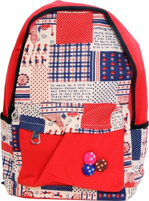 AVANEESH TRENDY RED BUTTON 10 L Backpack
