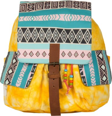 The House of Tara Printed Canvas 050 20 L Medium Backpack