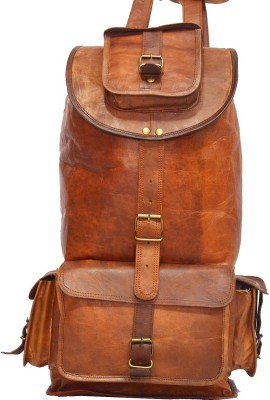 Hide 1858 Genuine Leather Rucksack Dark Tan Bag 2.5 L Backpack